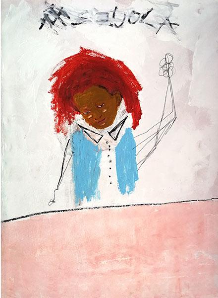 Emanuele Tozzoli Painting - Abbasso la scuola