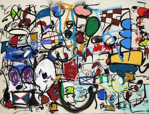 Taher Jaoui Artwork - Flowers on the wall
