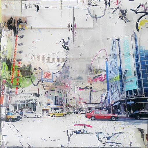 Gregory Watin artwork - Street JAPAN cars